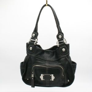 B. Makowsky Black Leather Should Bag